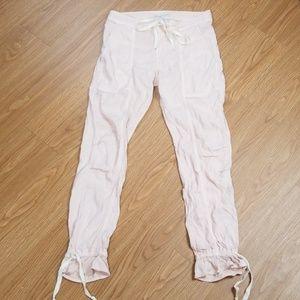 Joie Jean's Pink Linen blend drawstring pants G7
